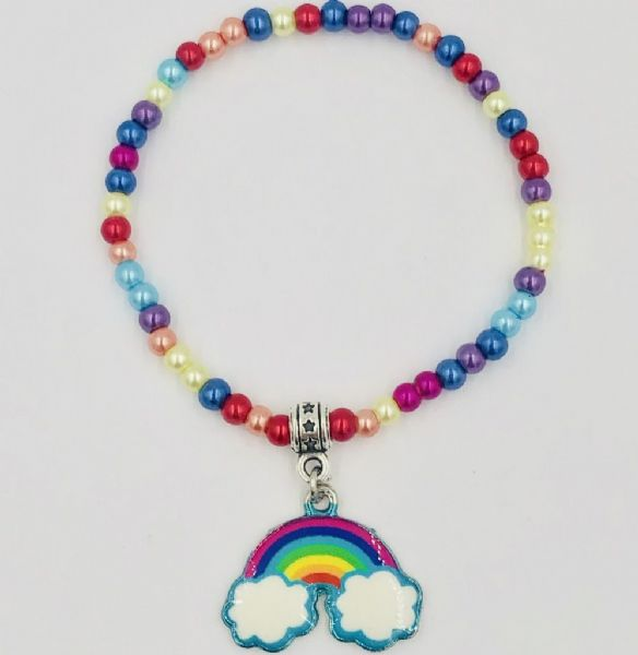 20 DIY Rainbow bracelets with rainbow charm ( kit rb001)